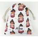 bolsa merienda personalizada niño niña superB