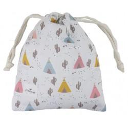bolsa merienda personalizada niño niña cactus tipis