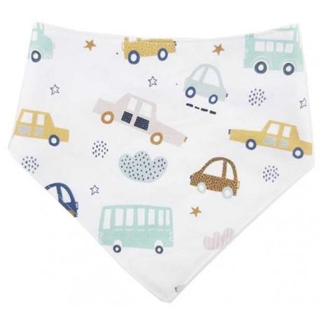 Bandana para bebé coches