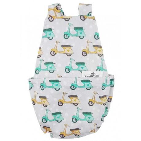 Peto bebé niño espalda abierta vespa
