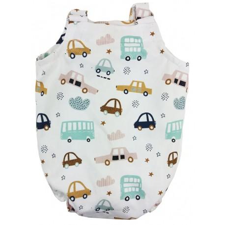 Peto espalda cerrada coches niño