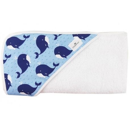 Toalla capa de baño bebé whale