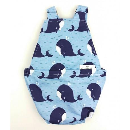 Peto espalda abierta ballenas
