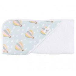 Toalla capa de baño bebé globos aerostáticos