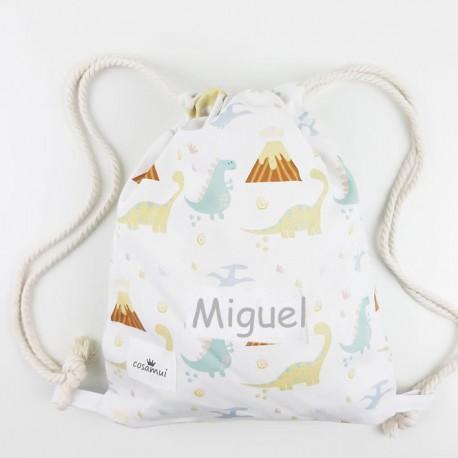 bolsa o mochila infantil o adulto dino