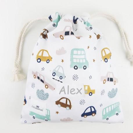 bolsa o mochila infantil o adulto coches