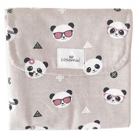 Cambiador plegable impermeable oso panda glass