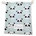 bolsa merienda infantil oso panda mint