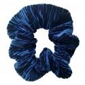 Coletero scrunchie mujer terciopelo azul