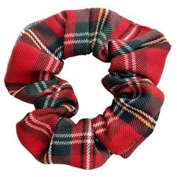 Coletero scrunchie mujer escoces rojo