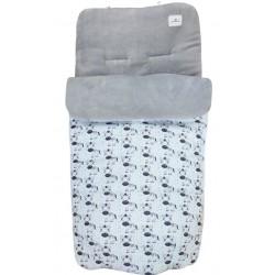 Saco sillita invierno bebé cebra