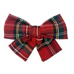 Maxi lazo mujer escocés rojo