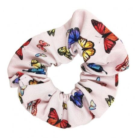 Coletero scrunchie mujer mariposas