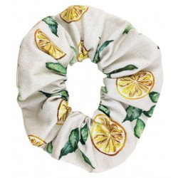 Coletero scrunchie mujer limones