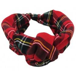 Diadema mujer escocés rojo