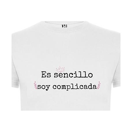 Camiseta mujer complicada