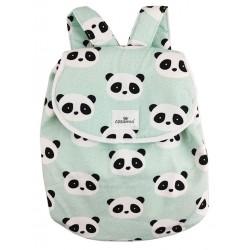 Mochila infantil new panda mint