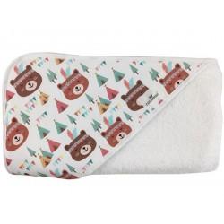 Toalla capa de baño recien nacido osos tipis