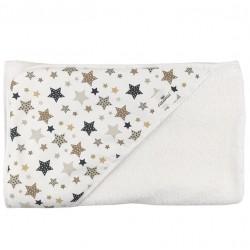 Toalla capa de baño recien nacido estrellato