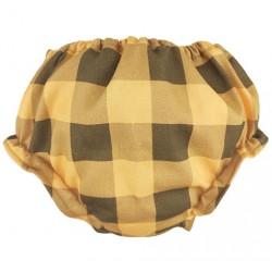 Cubrepañal escocés mostaza