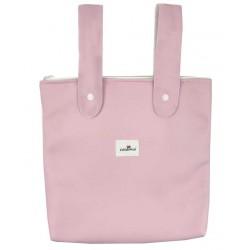Bolso panera polipiel carro rosa