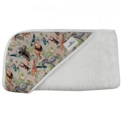 Toalla capa de baño recien nacido safari animales