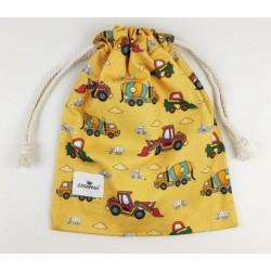 bolsa merienda personalizada niño niña excavadora