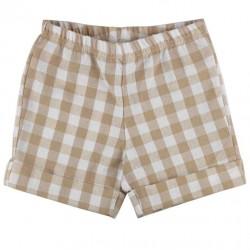 Pantaloncito corto niño vichy beige