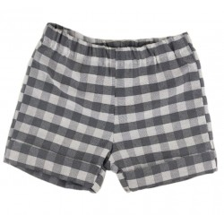 Pantaloncito corto niño vichy negro