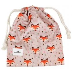 bolsa merienda escuela infantil personalizada zorros