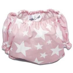 Culotte estrellas blancas fondo rosa