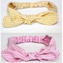 diadema vichy rosa o amarilla bebe y niña