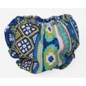 Cubrepañal hippie azul