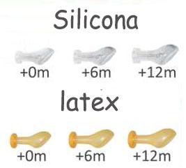 Tetinas de latex y silicona para chupetes personalizados